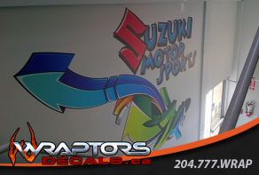 wall-graphics-suzuki-motor-sports-stairwell