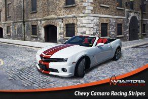 Chevy Camaro racing stripes